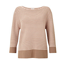 Buy Gerry Weber 3/4 Sleeve Striped Jumper, Multi Online at johnlewis.com