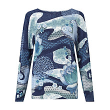 Buy Gerry Weber Long Sleeve Jumper, Blue/Green Online at johnlewis.com