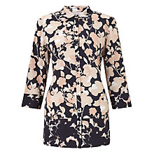 Buy Gerry Weber 3/4 Sleeve Printed Blouse, Power Indigo Online at johnlewis.com