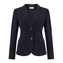 Buy Gerry Weber Waffle Jersey Blazer, Indigo Online at johnlewis.com