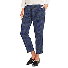 Buy Weekend MaxMara Esperia Printed Trousers, China Blue Online at johnlewis.com