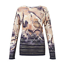 Buy Gerry Weber Long Sleeve Printed Jumper, Power Nude Online at johnlewis.com