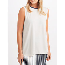 Buy Weekend MaxMara Cogne Pleated Top, White Online at johnlewis.com