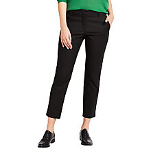 Buy Weekend MaxMara Fauna Stretch Trousers, Black Online at johnlewis.com