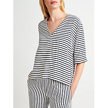 Buy Samsoe & Samsoe Linne Stripe Top, Dark Blue Stripe Online at johnlewis.com