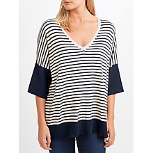 Buy Weekend MaxMara Coccole Stripe Jumper, Navy/Sand Online at johnlewis.com