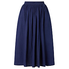 Buy Maison Scotch Draped Midi Skirt, Indigo Online at johnlewis.com