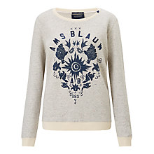 Buy Maison Scotch Graphic Print Sweatshirt, Grey Melange Online at johnlewis.com