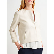 Buy Samsoe & Samsoe Doreen Blazer, White Sand Online at johnlewis.com