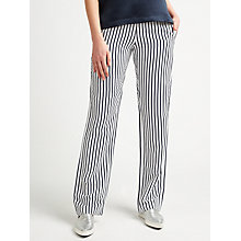 Buy Samsoe & Samsoe Hoys Straight Leg Stripe Trousers, Dark Blue Stripe Online at johnlewis.com