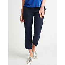 Buy Samsoe & Samsoe Hoyas Cropped Trousers, Dark Sapphire Online at johnlewis.com