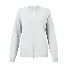 Buy Gerry Weber Zip Through Cardigan, Silverlight Online at johnlewis.com