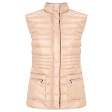 Buy Gerry Weber Quilted Gilet, Nude Online at johnlewis.com
