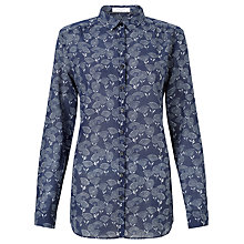 Buy Gerry Weber Long Sleeve Printed Shirt, Navy/Cream Online at johnlewis.com