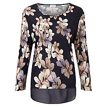 Buy Gerry Weber 3/4 Sleeve Printed Jersey Top, Blue/Lilac Online at johnlewis.com