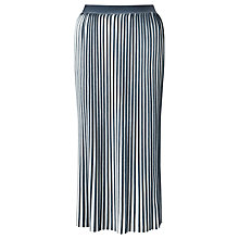 Buy Weekend MaxMara Vosci Pleated Skirt, White Online at johnlewis.com