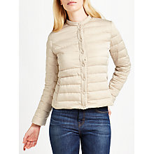 Buy Weekend MaxMara Beber Drop Proof Satin Down Jacket, Sand Online at johnlewis.com