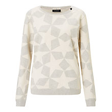 Buy Maison Scotch Star Print Sweatshirt, Grey Online at johnlewis.com