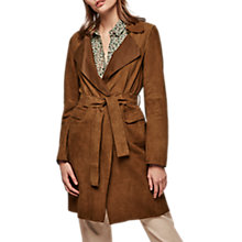 Buy Gerard Darel Verona Leather Coat, Coffee Online at johnlewis.com
