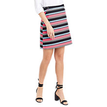 Buy Oasis Stripe Button Mini Skirt, Multi Online at johnlewis.com
