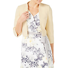 Buy Jacques Vert Crepe Bolero Jacket, Pastel Yellow Online at johnlewis.com