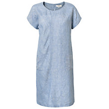 Buy East Linen Striped Shift Dress, River Online at johnlewis.com