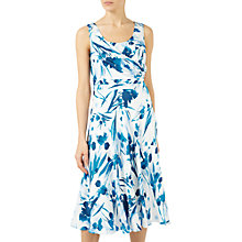 Buy Jacques Vert Floral Print Dress, Blue/Multi Online at johnlewis.com