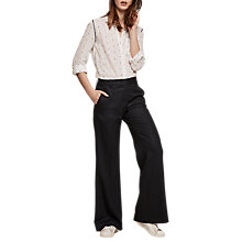 Buy Gerard Darel Phoebe Trousers, Navy Blue Online at johnlewis.com