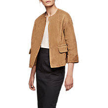 Buy Gerard Darel Vilma Leather Jacket, Camel Online at johnlewis.com