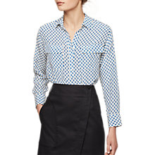 Buy Gerard Darel Curtis Silk Blouse, Blue Online at johnlewis.com