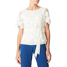 Buy Jacques Vert Lovely Lace Top, Light Neutral Online at johnlewis.com
