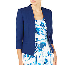 Buy Jacques Vert Textured Edge To Edge Jacket, Dark Blue Online at johnlewis.com