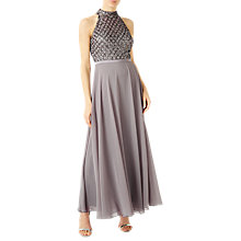 Buy Jacques Vert High Neck Embellished Maxi Dress, Grey Online at johnlewis.com