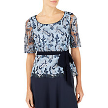 Buy Jacques Vert Embroidered Lace Top, Blue Online at johnlewis.com