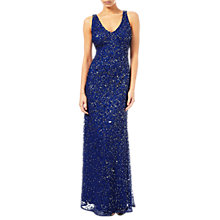 Buy Adrianna Papell Sleeveless Beaded Mermaid Gown, Neptune Online at johnlewis.com