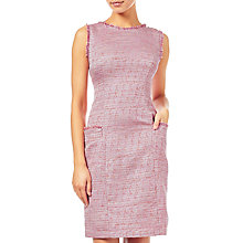 Buy Adrianna Papell Onassis Tweed Trimmed Shift Dress, Pink/Multi Online at johnlewis.com