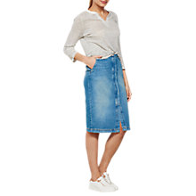 Buy Mint Velvet Authentic Wash Denim Midi Skirt, Blue Online at johnlewis.com