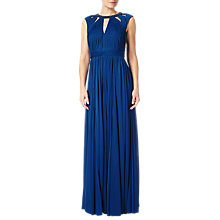 Buy Adrianna Papell Plus Size Shirred Neckline Maxi Dress, Sapphire Online at johnlewis.com
