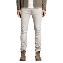 Buy AllSaints Greeley Cigarette Skinny Jeans, Grey Online at johnlewis.com