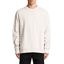 Buy AllSaints Ictus Crew Neck Destroyed Sweatshirt, Vintage White Online at johnlewis.com