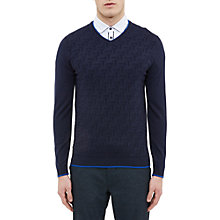 Buy Ted Baker Golf Armstro Textured V-Neck Jumper Online at johnlewis.com