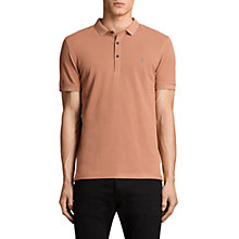 Buy AllSaints Reform Short Sleeve Slim Polo Shirt, Clay Red Online at johnlewis.com