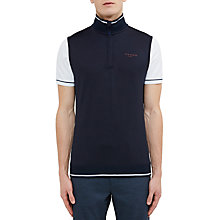 Buy Ted Baker Golf Lag Half-Zip Gilet, Navy Online at johnlewis.com