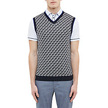 Buy Ted Baker Golf Tommas Jacquard Merino Tank Top Online at johnlewis.com