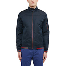 Buy Ted Baker Golf Squares Shower-Resistant Geo Print Bomber Jacket, Navy Online at johnlewis.com