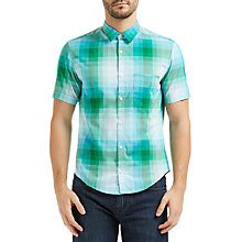 Buy BOSS Green C-Bansino Short Sleeve Check Shirt Online at johnlewis.com