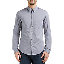 Buy BOSS Green C-Barnaba Circular Texture Shirt, Navy Online at johnlewis.com