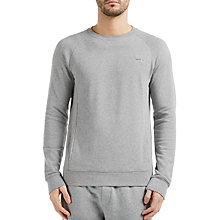 Buy BOSS Orange Wheel Jersey Tracksuit Sweatshirt, Light Pastel Grey Online at johnlewis.com