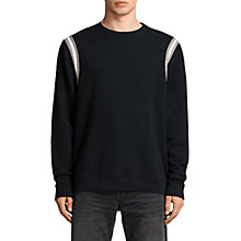 Buy AllSaints Magist Relaxed Fit Crew Neck Sweatshirt, Black/Putty/White Online at johnlewis.com