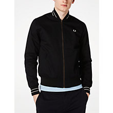Buy Fred Perry Cotton Bomber Jacket, Black Online at johnlewis.com